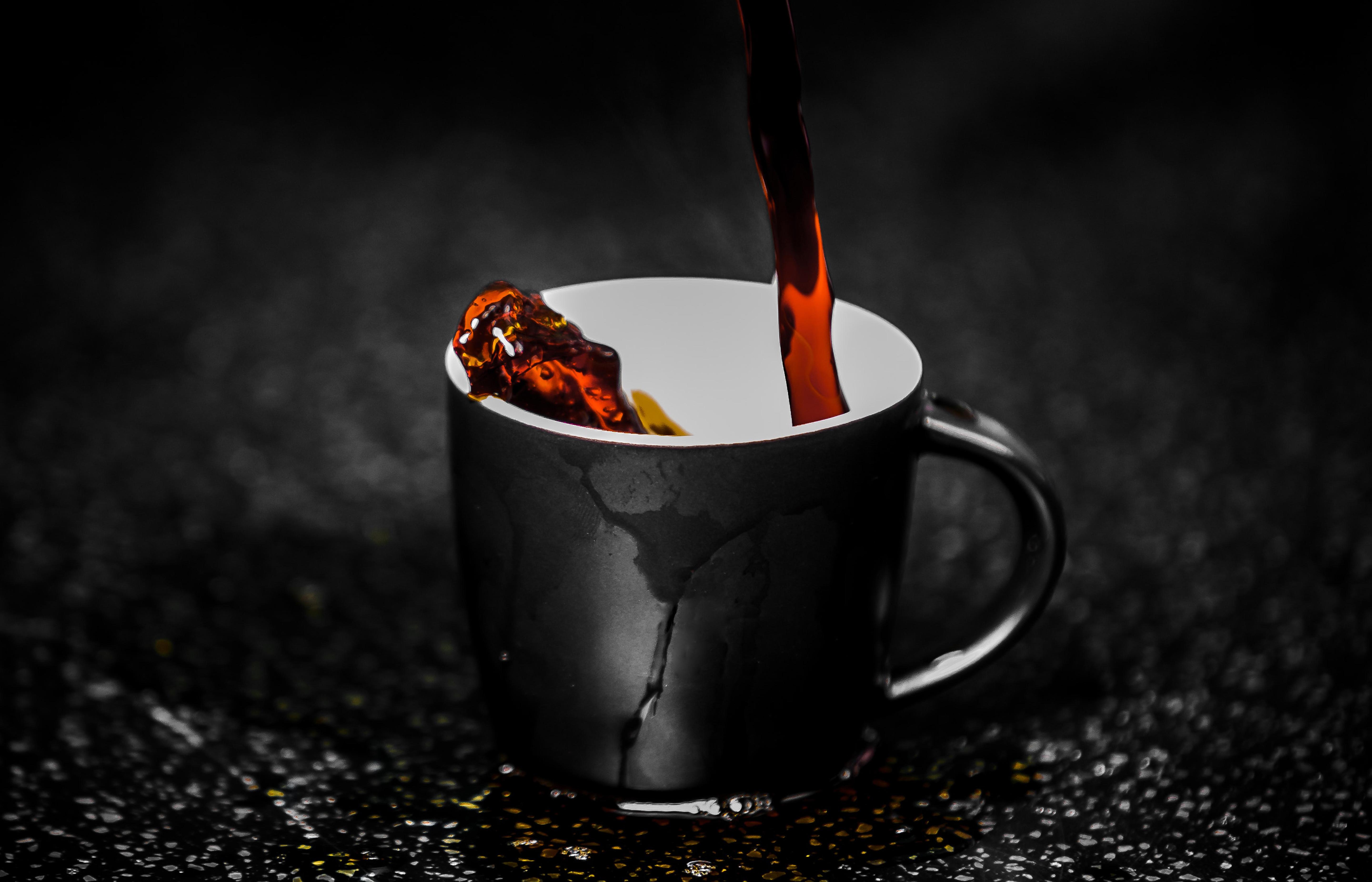 gratis koffie na het poetsen